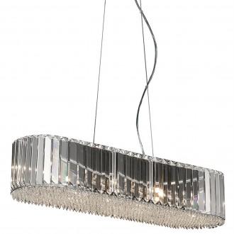 Kryształowa lampa wisząca w stylu glamour Prince owalna