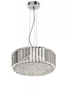 Kryształowa lampa wisząca w stylu glamour Prince okrągła