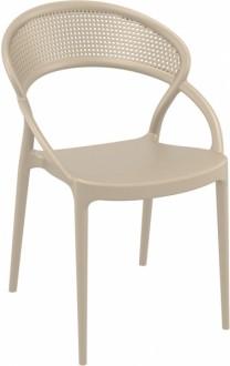 Krzesło do kawiarni z tworzywa sztucznego Sunset
