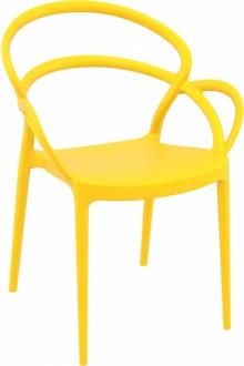 Designerskie krzesło kawiarniane z tworzywa Mila