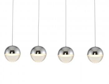 Nowoczesna lampa wisząca z czterema kloszami Doris Led