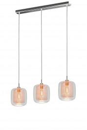 Potrójna lampa wisząca w stylu industrialnym Donato