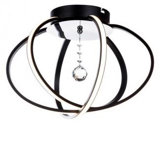 Designerski plafon sufitowy z kryształem Carrello 44 Led