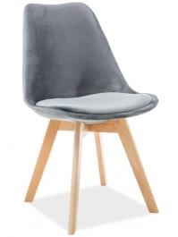 Aksamitne krzesło z poduszką na dębowych nogach Dior Velvet