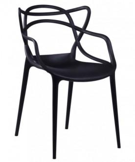 Designerskie krzesło z tworzywa Toby do jadalni i kawiarni