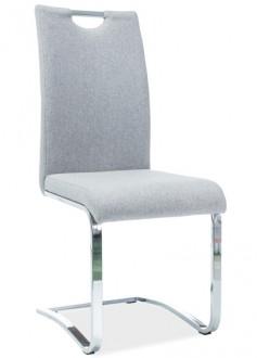 Krzesło na chromowanych płozach z uchwytem H-790 tkanina