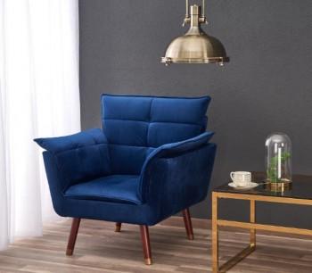 Wygodny fotel wypoczynkowy z pikowaną poduszką Rezzo