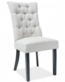 Pikowane krzesło na drewnianych nogach Aleksander