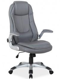 Obrotowy fotel z tapicerowanymi podłokietnikami Q-081 ekoskóra