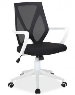 Obrotowe krzesło biurowe z tworzywa Easy czarne Kupmeble.pl