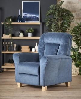 Rozkładany fotel wypoczynkowy na drewnianych nóżkach Bard