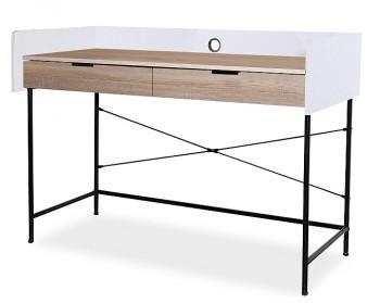 Loftowe biurko z szufladami na metalowych nogach B-181