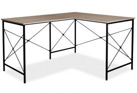 Narożne biurko w stylu loft na metalowym stelażu B-182