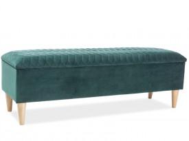 Aksamitna ławka sypialniana ze schowkiem Azurro Velvet