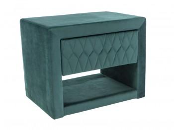 Aksamitna szafka nocna z pikowaną szufladą Azurro Velvet