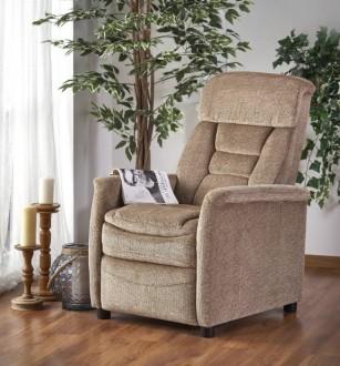 Rozkładany fotel wypoczynkowy z tkaniny Jordan