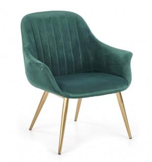 Fotel wypoczynkowy do salonu z tkaniny velvet Elegance 2