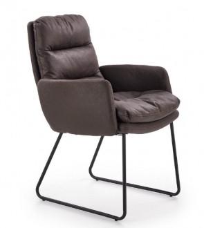 Wypoczynkowy fotel z miękkim siedziskiem z ekoskóry Fassi
