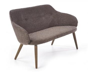 Tapicerowana sofa na drewnianych nogach Verano XL