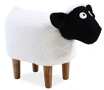 Oryginalna pufa dziecięca tapicerowana tkaniną Owieczka Olga