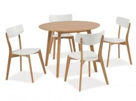 Fornirowany stół na czterech nogach Mosso II dąb 100