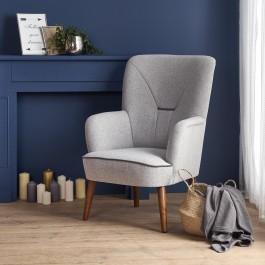 Fotel wypoczynkowy na drewnianych nogach Bishop
