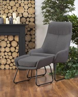 Fotel wypoczynkowy z podnóżkiem Bolero