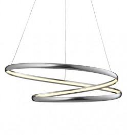 Chromowana lampa wisząca z oświetleniem Led Peria 55B