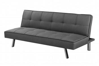 Rozkładana sofa pikowana na metalowych nóżkach Carlo