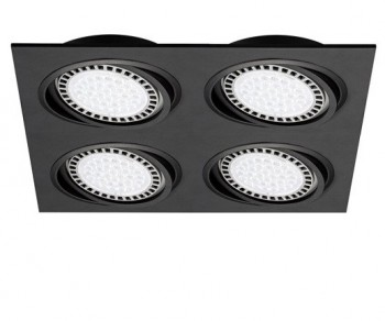 Sufitowa obudowa halogenowa z metalu Boxy DL 4