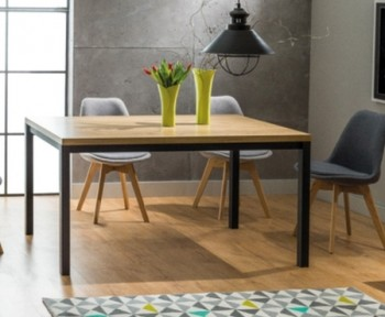 Nierozkładany stół do jadalni w stylu industrialnym Normano 120x80 cm