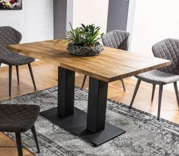 Nierozkładany stół z litego drewna Sauron 120x80 cm