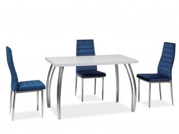 Stół na wygiętych nogach chromowanych SK-2 140x74 cm
