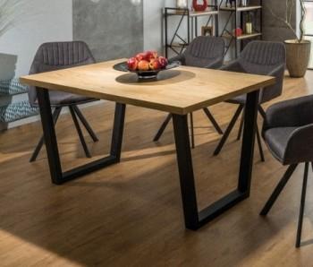 Stół do jadalni na metalowych płozach Valnetino 120x80 cm w stylu industrialnym