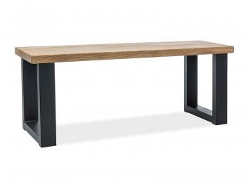 Drewniana ławka salonowa na metalowych płozach Umberto