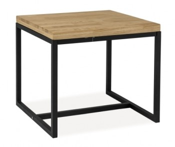 Fornirowany stolik z kwadratowym blatem Loras C