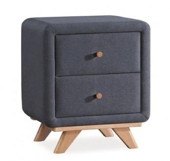 Tapicerowana szafka nocna z dwoma szufladami Melissa