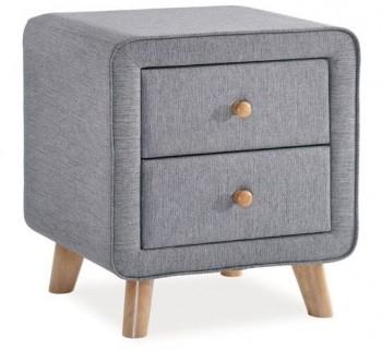 Tapicerowana szafka nocna z dwoma szufladami Malmo