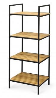 Otwarty regał z drewnianymi półkami REG12