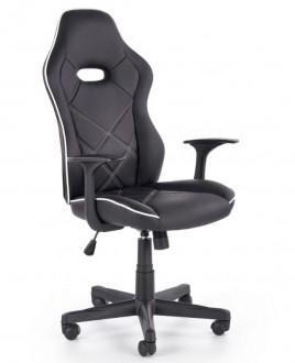 Czarny fotel do biura z ekoskóry Rambler