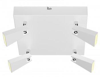 Lampa przysufitowa spot z oświetleniem Led Spazio 4
