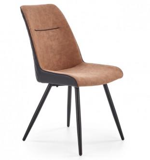 Tapicerowane krzesło z pikowanym tyłem K323