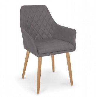 Pikowane krzesło z tkaniny K343