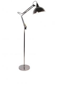 Chromowana lampa podłogowa z regulacją Milo