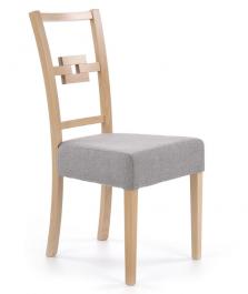 Krzesło drewniane z tapicerowanym siedziskiem Stan