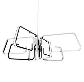 Geometryczna lampa wisząca z metalu Ascona Led