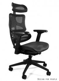 Ergonomiczny fotel biurowy na podstawie z tworzywa Ergotech