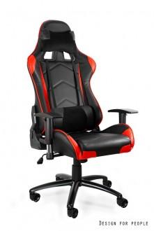 Gamingowy fotel z regulowaną poduszką Dynamiq V5 czarno-czerwony