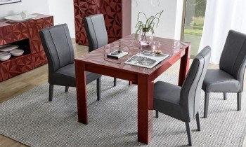 Rozkładany stół Prestige czerwony połysk