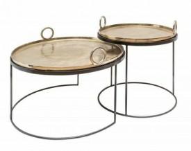 Zestaw dwóch stolików z okrągłymi rączkami Elements Oriental